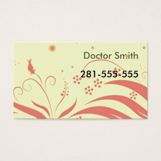 Cartão De Visitas yellowpinkpattern, doutor Smith, 281-555-555