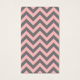 Cartão De Visitas Ziguezague cor-de-rosa e cinzento