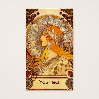 Cartão De Visitas Zodíaco de Mucha
