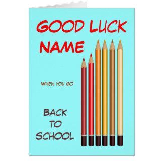Cartão De volta aos desejos da escola