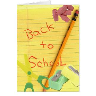 Cartão De volta-School