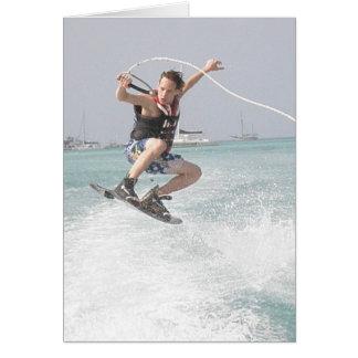 Cartão de Wakeboarding