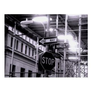 Cartão de Wall Street