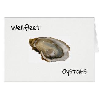 Cartão de Wellfleet Oystahs