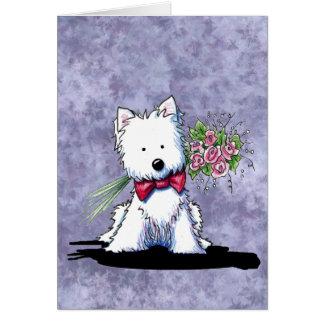 Cartão de Westie do dia das mães