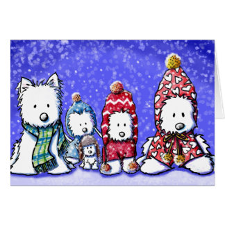 Cartão de Westies do inverno de KiniArt