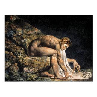 Cartão de William Blake Isaac Newton