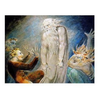 Cartão de William Blake:  Trabalho e sua família Cartão Postal