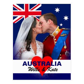 Cartão de William & de Kate - de Austrália