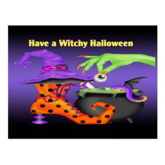 Cartão de Witchy o Dia das Bruxas