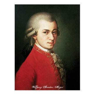 Cartão de Wolfgang Amadeus Mozart