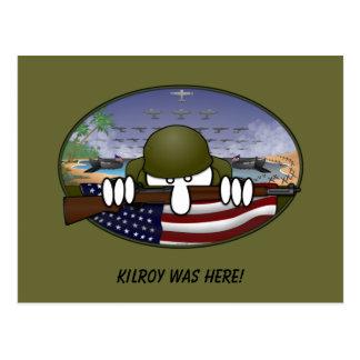 Cartão de WW2 Kilroy