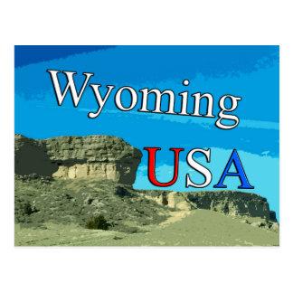 Cartão de Wyoming EUA