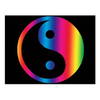 Cartão de Yin Yang do arco-íris