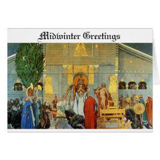 Cartão de Yule dos noruegueses - mancha do pleno