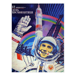 Cartão de Yuri Gagarin Cartão Postal