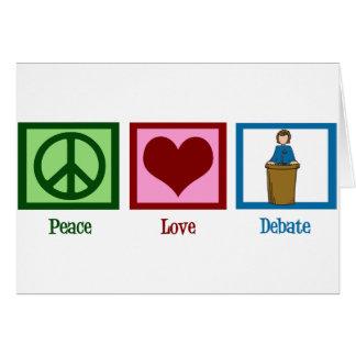 Cartão Debate do amor da paz