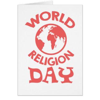 Cartão Décimo oitavo janeiro - dia da religião do mundo