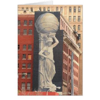 Cartão Declaração da pintura mural da independência