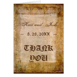 Cartão Declaração do obrigado dos EUA 1776 da