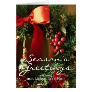Cartão Decoração do Natal