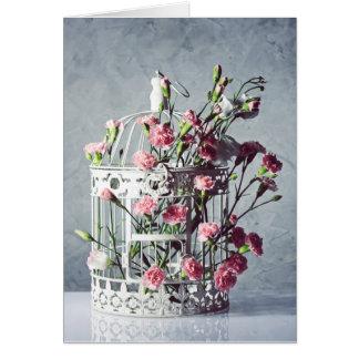 Cartão Decoração floral