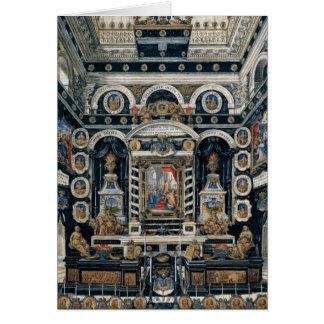 Cartão Decoração funerária à memória de Henri II