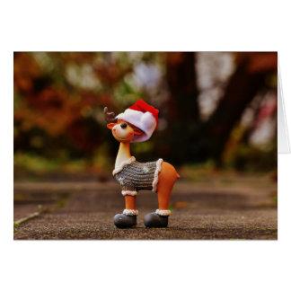 Cartão Decorações da rena - rena do Natal
