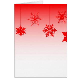 Cartão Decorações vermelhas do Natal