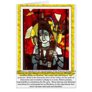 Cartão Deidade do senhor Shiva da trindade Hindu