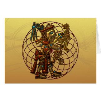 Cartão Deidade maia