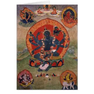 Cartão Deidade verde do budista de Tara