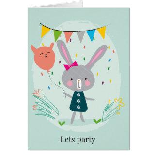Cartão Deixa o coelho do partido