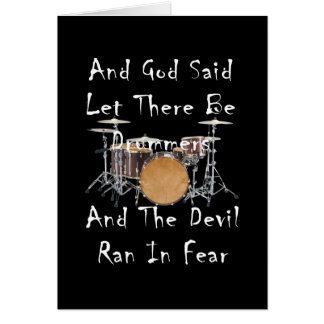 Cartão Deixado haja bateristas