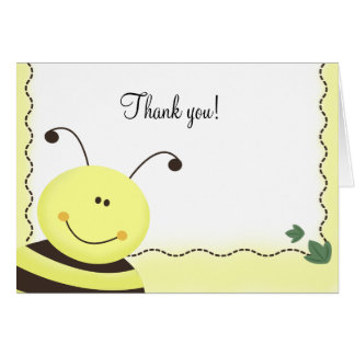 Cartão Deixado o a abelha Bumble o obrigado dobrado