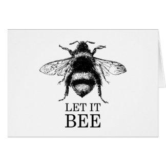 Cartão Deixado o a natureza do vintage da abelha Bumble a