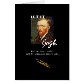 Cartão Deixado o citações de Gogh Vincent van Gogh que