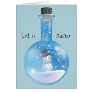 Cartão Deixais lhe para nevar