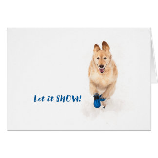 Cartão Deixais lhe para nevar!