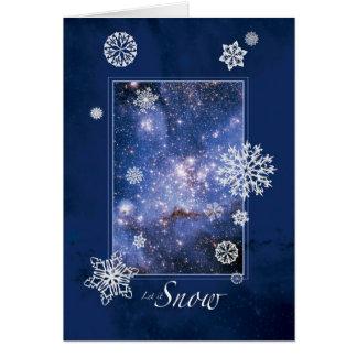 Cartão Deixais lhe para nevar com a grande nuvem de