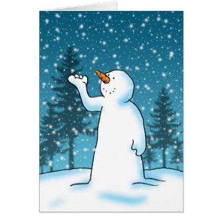 Cartão Deixais lhe para nevar, deixe-o nevar, deixe-o