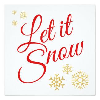 Cartão Deixais lhe para nevar Natal