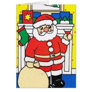 Cartão Deixais lhe para nevar! , Papai noel que aprecia