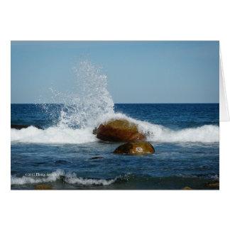 Cartão Deixe a água dançar