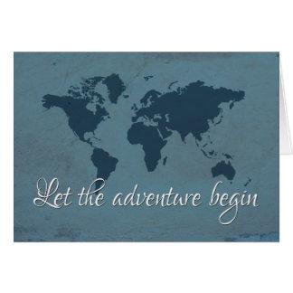 Cartão Deixe a aventura começar