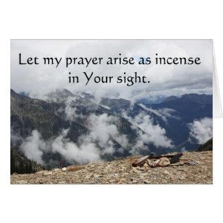 Cartão Deixe minha oração levantar-se como o incenso