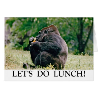 Cartão Deixe-nos fazer o almoço!