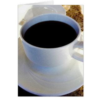 Cartão Deixe-nos fazer o café