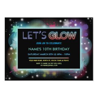 Cartão Deixe-nos incandescer festa de aniversário