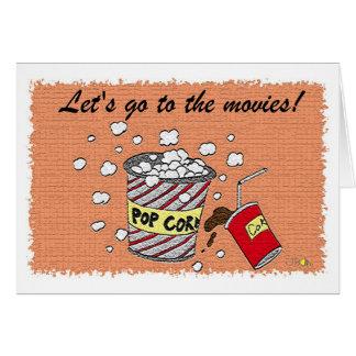 Cartão Deixe-nos ir aos filmes!